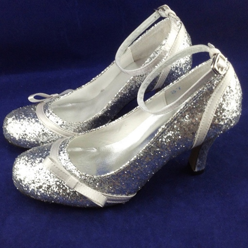 Sequins High Heels Closed-toes Wedding Bridal Shoes