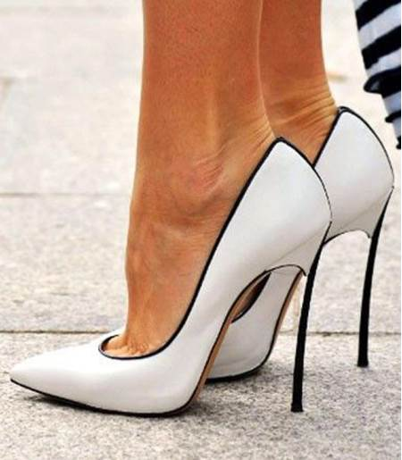 High Stiletto Heel Pointed Toe Women's Pumps (Plus Size Available)