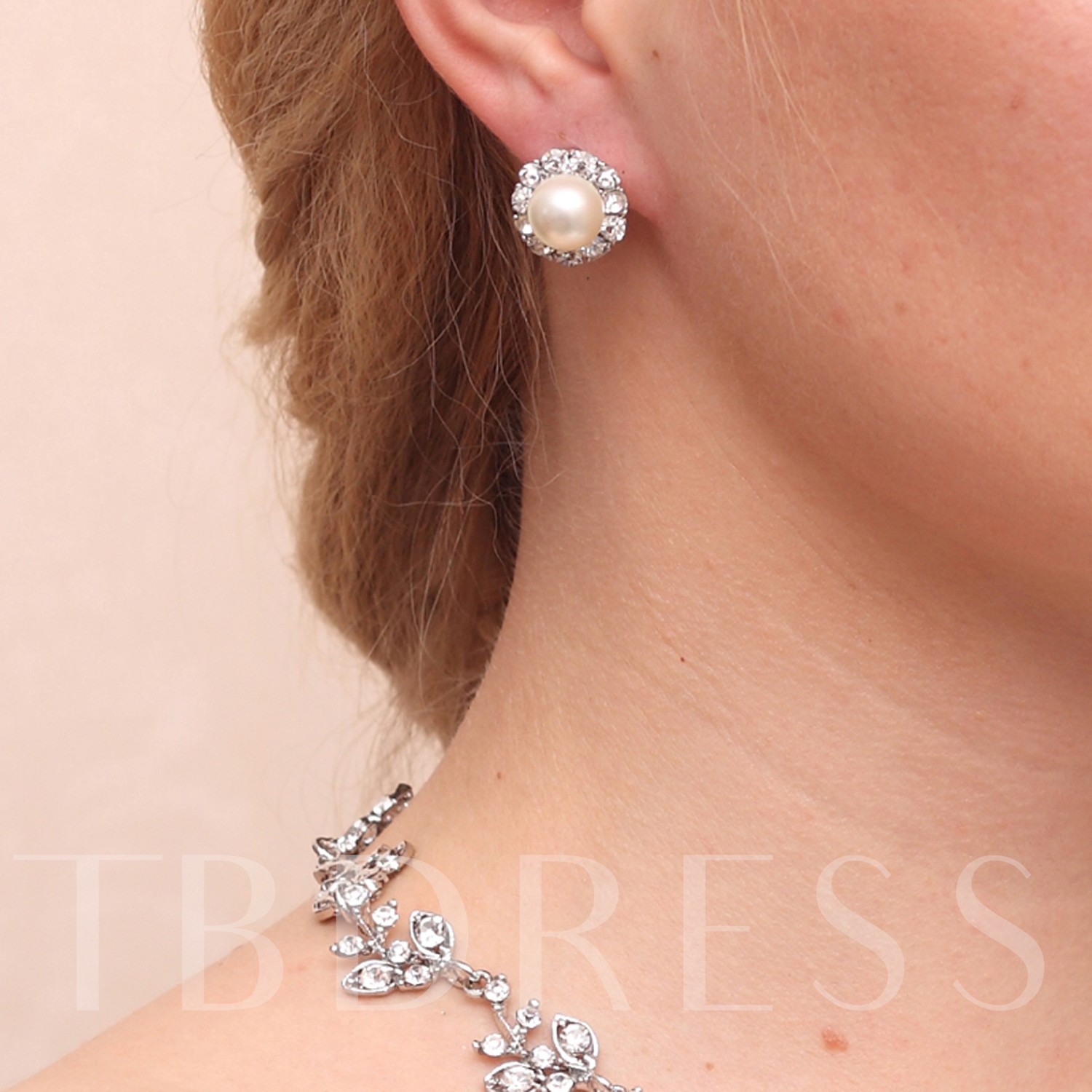 Alloy with Rhinestones Wedding Jewelry Sets(Including Necklace and Earrings)