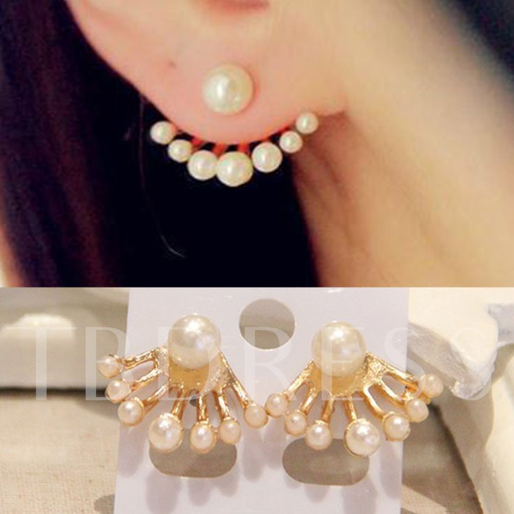 Imitation Pearl Women's Ear Cuff