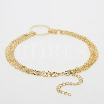 Layers Golden Chain Women's Anklet (Price for One Piece)