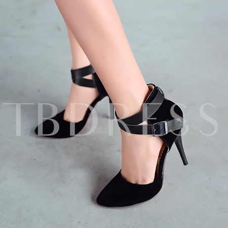 Buy Buckle Pointed Toe Ankle Strap Women's Pumps (Plus Size Available), Spring,Summer,Fall, 11350811 for $36.99 in TBDress store