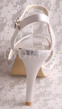 Ankle Straps Closed Toe High Heels Wedding Shoes