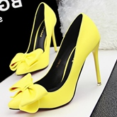 Bowknot Decorated Pointed Toe Women's Pumps