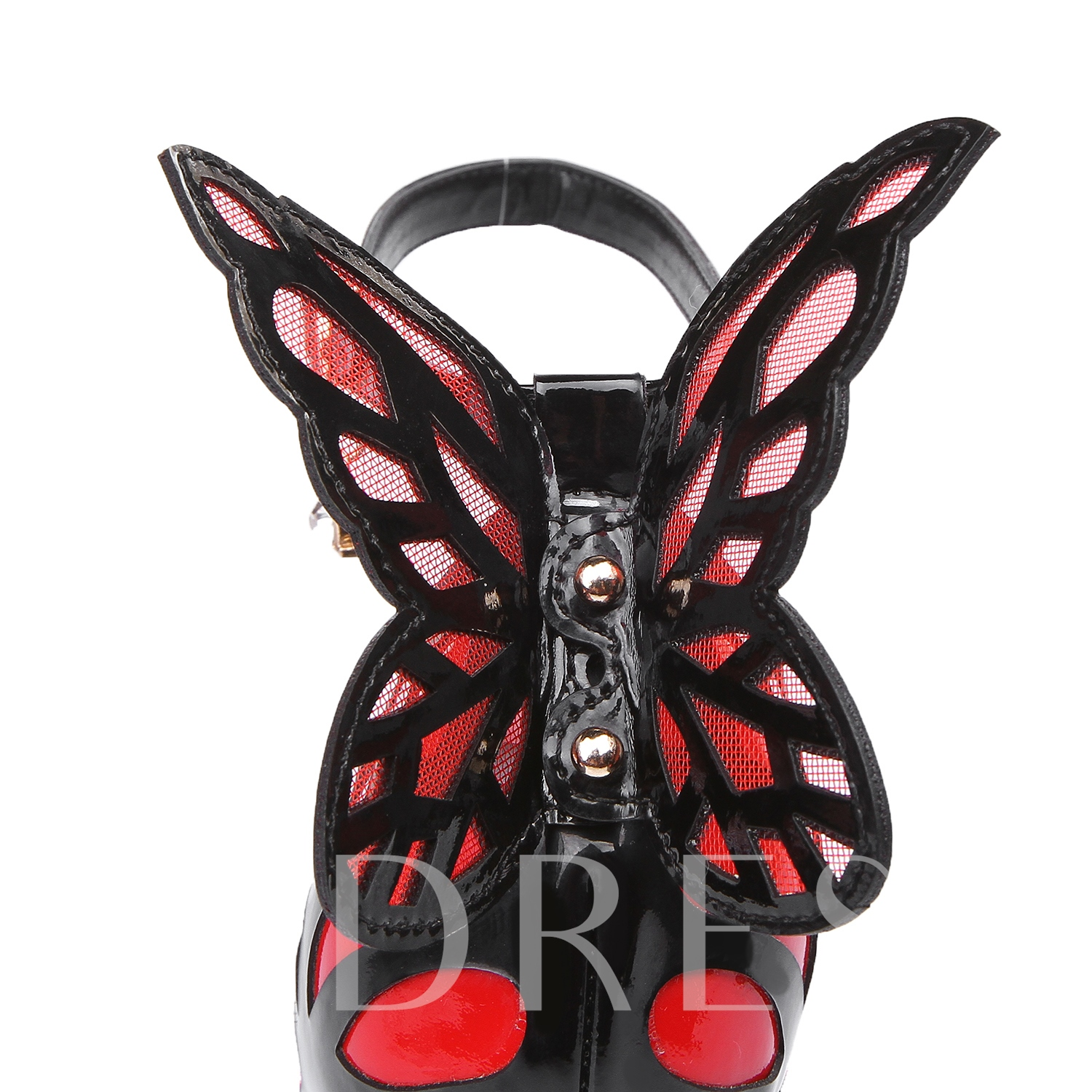 Butterfly Wings Decorated Ankle Strap Women's Sandals