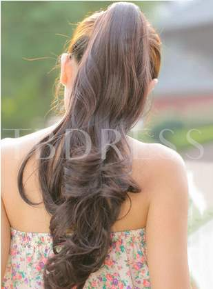 Long Loose Wave Clip In Synthetic Ponytail 22 Inches