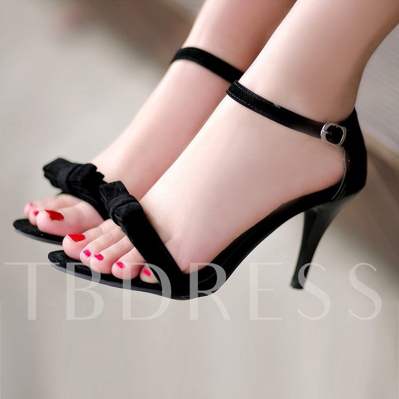 Ankle Strap Peep Toe High Heel Women's Sandals