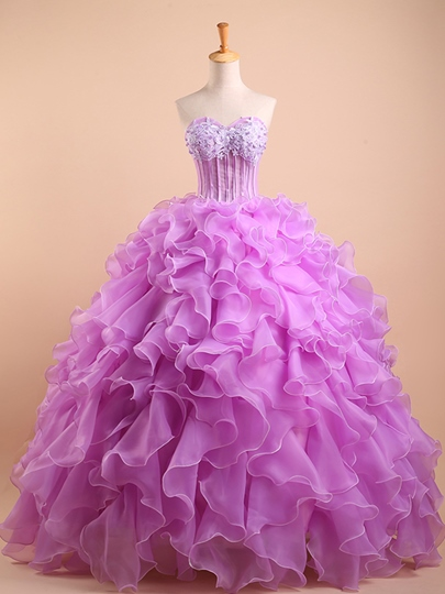 Sweetheart Beadings Ruffles Quinceanera Dress