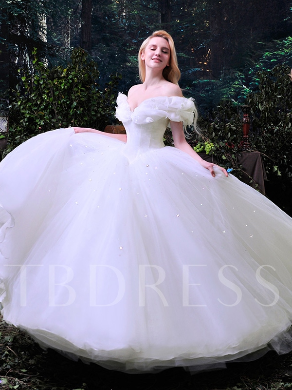 Ball Gown Liques Cinderella Wedding Dress Sold Out