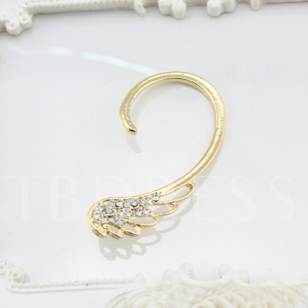 Exaggerated Personality Full Drill Wing Ear Cuff