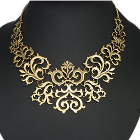 Golden Vintage Flower Women's Necklace
