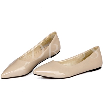 Candy Color Pointed Toe Slip-on Women's Flats (Plus Size Available)