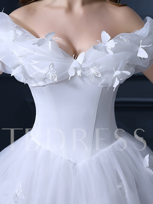 Ball Gown Appliques Cinderella Wedding Dress