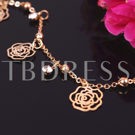 Hollowed-Out Rose Women's Anklet