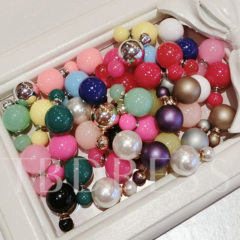 Sweet and Colorful Beads Earrings