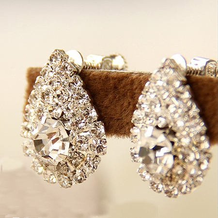 Pear Shaped Diamante Earrings