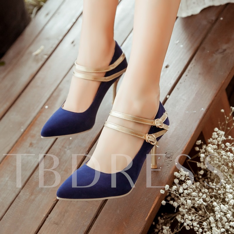 Suede High Heel Closed Toe Women's Pumps (Plus Size Available)
