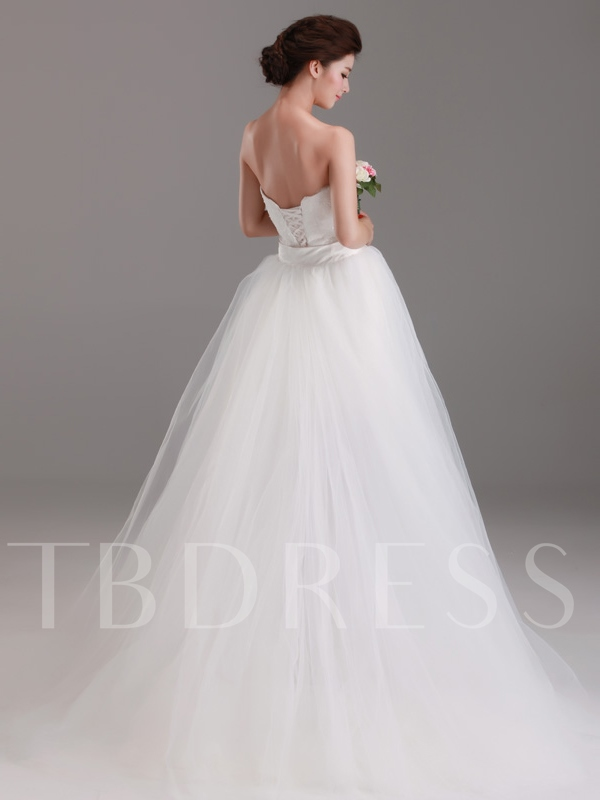 Two-in-One Detechable Train Sheath/Column Lace Tulle Wedding Dress