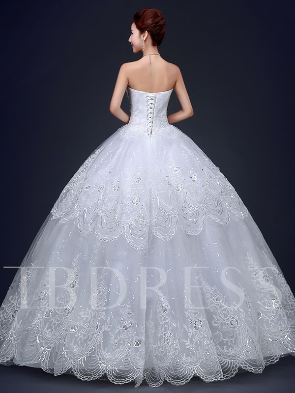 Sweetheart Ball Gown Beading Appliques Wedding Dress