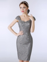 Sheath Lace Short Mother of the Bride Dress with Jacket
