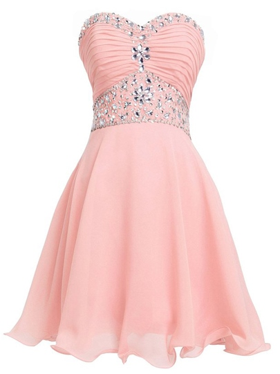 Sweetheart Beadings A-Line Mini Homecoming Dress