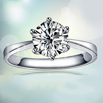 Shine Diamond-Shaped Ring