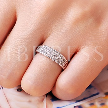 Sparkling Diamante Women's Ring