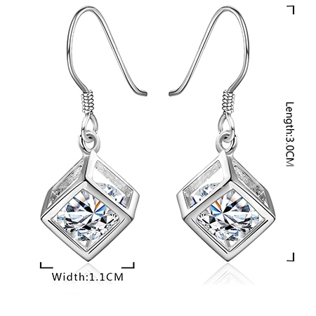 The Silver Box Pendant Earrings