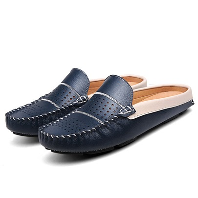 Flat Heel Slip-On Hollow Men's Loafers