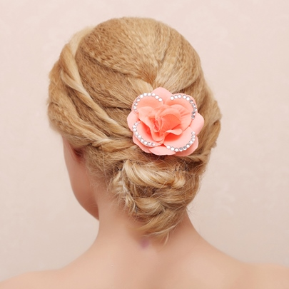 Beaded Bridal Hair Flower