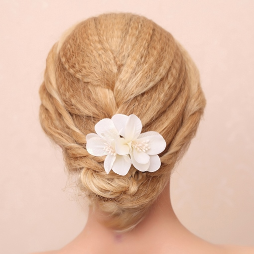 Tiny Multi-Color Bridal Hair Flower