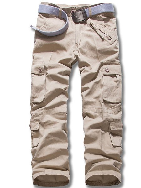 Pocket Decorated Mid-waist Men's Pants