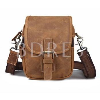 Classic Belt With Snap Cover Cowhide Men's Cross Body