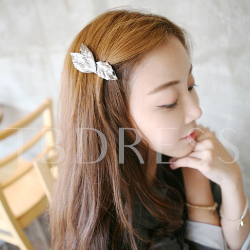 Retro Metal Three Leaves Hair Clip