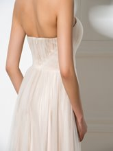 A-Line Ruched Sweetheart Appliques Floor-Length Prom Dress