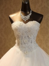 Beading Appliques Plus Size Ball Gown Wedding Dress 2019