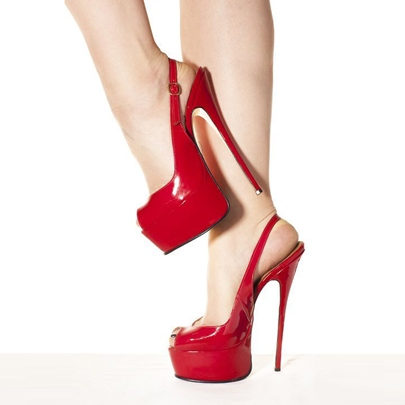 Red High Platform Stiletto Heel Women's Sandals (Plus Size Available)