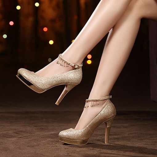 Ankle Straps Platform Stiletto Heel Wedding Shoes