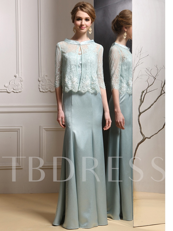 Beading Lace Sheath Mother of the Bride Dress with Jacket