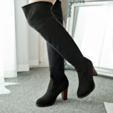 Chunky Heel Slip-on Women's Knee-High Boots