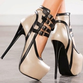 Hollow Contrast Color Stiletto Heel Women's Pumps