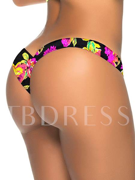 Sexy Floral Printing Micro Panty (Plus Size Available)