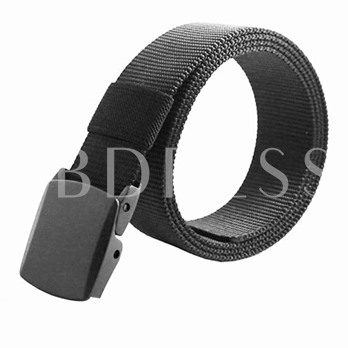 Prevent Allergies Automatic Canvas Buckle Belt