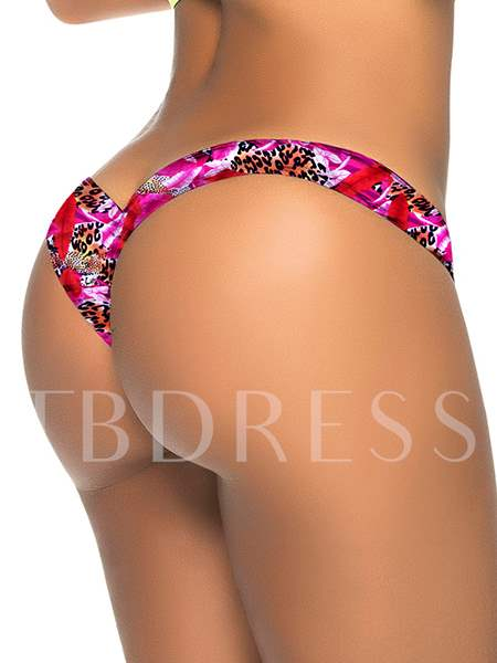 Leopard Pattern Printed Cotton Women's Panty Micro Thong