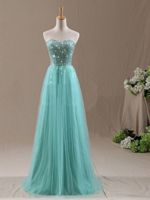 Sweetheart Beaded Long Bridesmaid Dress
