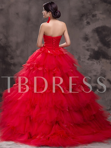 Sweetheart Embroidery Long Quinceanera Dress