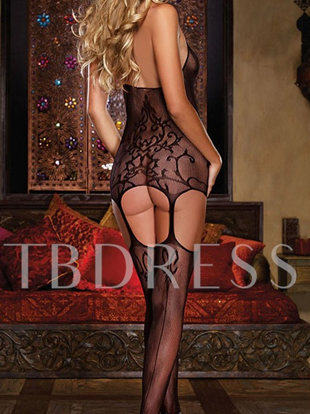 Halter Floral Lace Hollow-out Women's Teddy