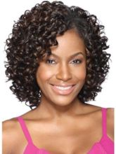 Curly Lace Front Cap Synthetic Hair 12 Inches Wigs
