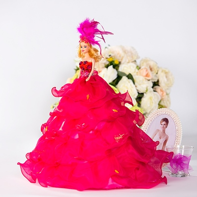 Rose Bridal Barbie Doll Fashion Girl`s Gift