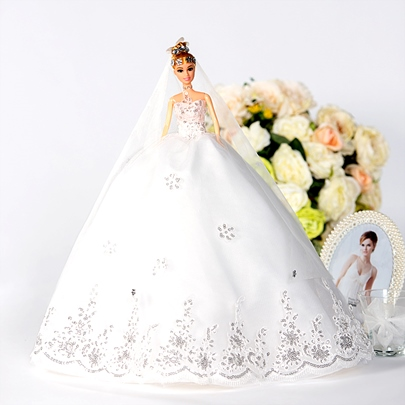 Wedding Day Toy Gift Dream Bridal Barbie Doll
